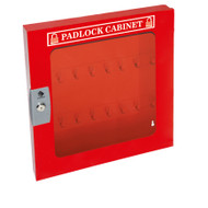 Padlock Cabinet, Clear Window, 55 Padlock