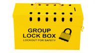Group Lockout Box, Yellow, 13 Hole