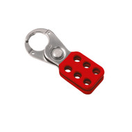 "Coated Hasp, Steel, Red, 1"", Without Tabs"