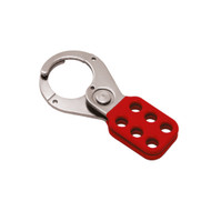 "Coated Hasp, Steel, Red, 1.5"", Without Tabs"