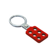 "Coated Aluminum Hasp, Red,  1.5"" Jaw Diameter"