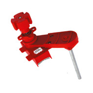 Ball Valve Lockout, Adjustable, Red, Small
