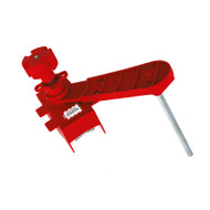 Ball Valve Lockout, Adjustable, Red, Large