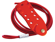 Cable Lockout, Red With 6 ft. Cable 7-Hole