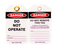 Lockout Tags, Do Not Operate, 10/pk
