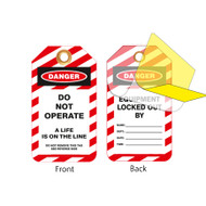 Lockout Tags, Do Not Operate, Self-laminating