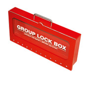 Group Lockout Box, Wall Mount,Red, Steel