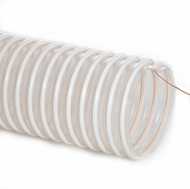 Clear Static Control Hose with Grounding Wire