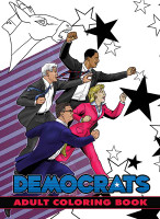 Political Power: Democrats Adult Coloring Book