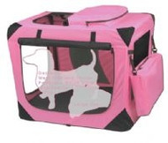 Small Deluxe Soft Dog Crate, Generation II - Pink