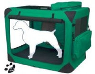 Large Deluxe Soft Dog Crate, Generation II - Moss Green
