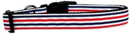 Patriotic Stripes Nylon Dog Collar