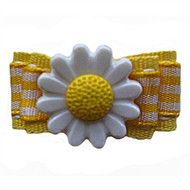 Yellow Daisy Dog Barrette