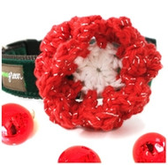 Holiday Tinsel Flower for Dogs