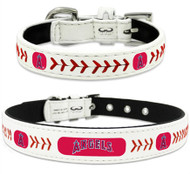 Anaheim Angels Leather Dog Collar