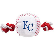 Kansas City Royals Nylon Baseball Rope Dog Toy
