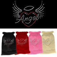 Angel Heart Rhinestone Dog Sweater  (Multiple Colors)