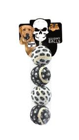 Small Tennis Ball 4 pk - Skull Dog Toy