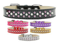 Sparkling Pearl & Pink Crystal Collar