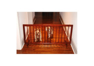 Step Over Dog Gate - Walnut