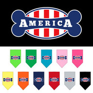 Bonely in America Screen Print Dog Bandana