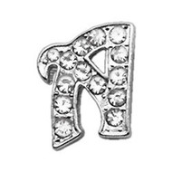 Bling Script Letter Collar Slider Charms - 10mm