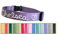 Embroidered Webbing Dog Collars