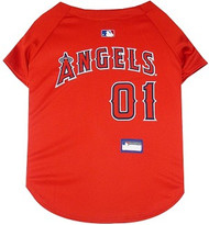 Los Angeles Angels Baseball Dog Jersey