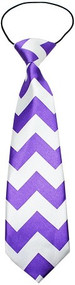 Big Dog Purple Chevron Neck Tie