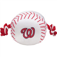 Washington Nationals Baseball Rope Dog Toy