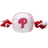 Philadelphia Phillies Baseball Rope Dog Toy