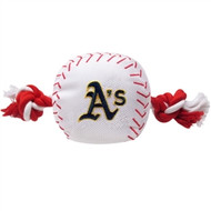 Oakland Athletics Baseball Rope Dog Toy