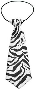 Zebra Dog Neck Tie