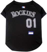 Colorado Rockies Baseball Dog Jersey