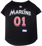 Miami Marlins Baseball Dog Jersey