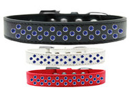Rim-Set Blue Crystal Dog Collar