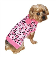 Pink Leopard Cat Sweater