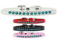 Turquoise Pearl Puppy Collar