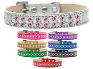 Sparkling Pearl & Bright Pink Crystal Collar