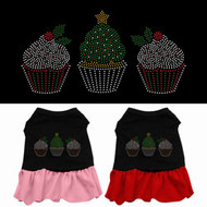 Christmas Cupcakes Dog Dress
