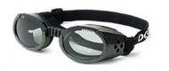 Metallic Black ILS Doggles with Light Smoke Lens