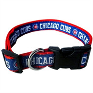 Chicago Cubs Dog Collar with Optional Matching Leash