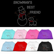Snowman's Best Friend Dog Shirt