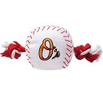 Baltimore Orioles Nylon Baseball Rope Dog Toy
