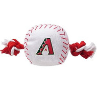 Arizona Diamondbacks Nylon Baseball Rope Dog Toy