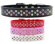 Sprinkled Confetti Leather Collar