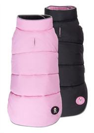 Girlie Skull Reversible Dog Puffer Vest
