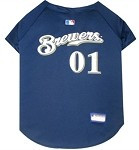 Milwaukee Brewers Baseball Dog Jersey