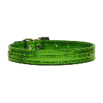 10mm Emerald Green Metallic Two Tier Dog Collar