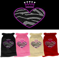 Zebra Rhinestone Heart Sweater (Various Colors)